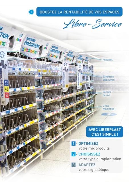 Image couverture brochure Liberplast - Concept linéaires libre-service 2019 - Interplast