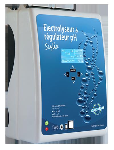 """Photo de l'électrolyseur et régulateur pH """"Scylia Duo"""""""