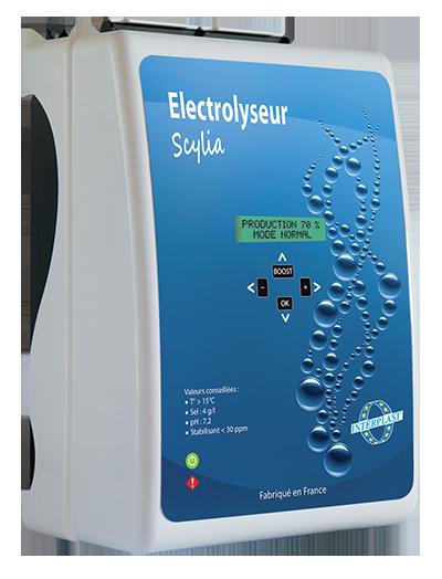 """Photo de l'électrolyseur et régulateur pH """"Scylia Sel"""""""