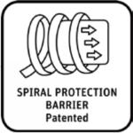 Logo spiral protection barrier