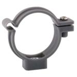 Photo Collier de fixation à vis PVC gris - diamètre 32