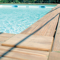 Photo de piscine bois gamme DREAM-WOOD finition luxe
