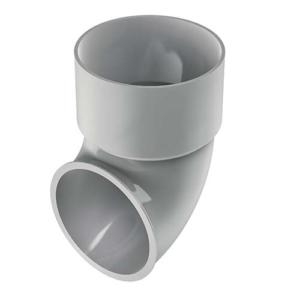 Photo Pied de chute PVC gris