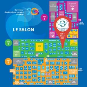 Plan du salon 2019 Carrefour des Gestions Locales de l Eau INTERPLAST
