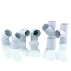 Photo de raccords PVC évacuation blanc Interplast
