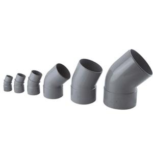 Photo gamme de raccords PVC évacuation gris Interplast