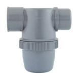 Photo siphon de parcours PVC gris diamètre 32