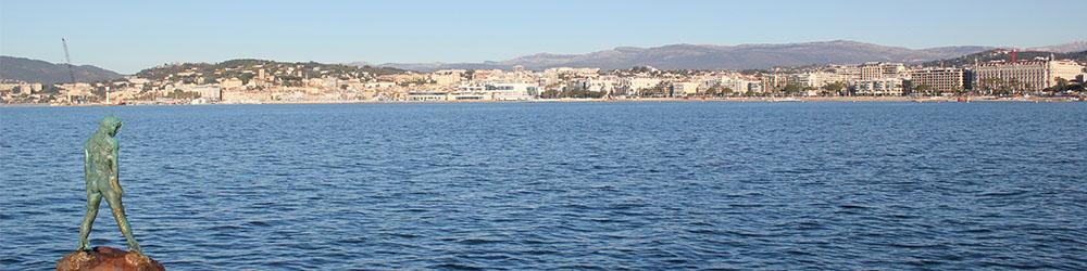 Photo de la ville de Cannes - chantier émissaire eaux pluviales