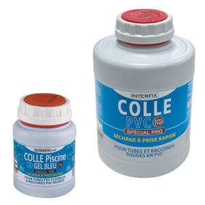 Photo de la gamme Colles PVC piscine pour tuyaux PVC PRO pour tuyaux PVC souples et rigides en pots