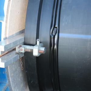 Photo soudure de l'émissaire eaux pluies - Tubes PE Interplast