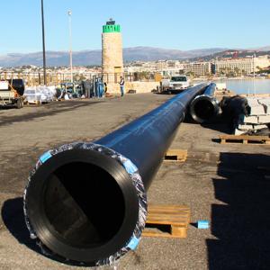 Photo de Tubes PE pour émissaire eaux pluies 2 - Chantier Interplast