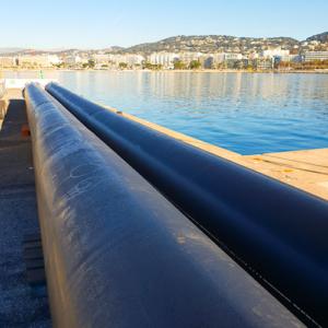 Photo de Tubes PE pour émissaire eaux pluies 3 - Chantier Interplast