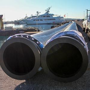 Photo de Tubes PE pour émissaire eaux pluies - Chantier Interplast