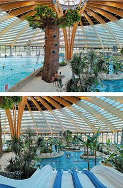 Dome / Intérieur piscine du domaine des ormes