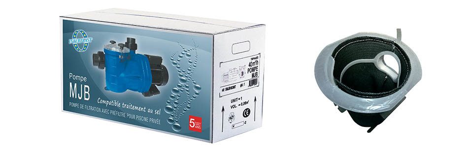 Packaging pompes piscine auto-amorçantes MJB