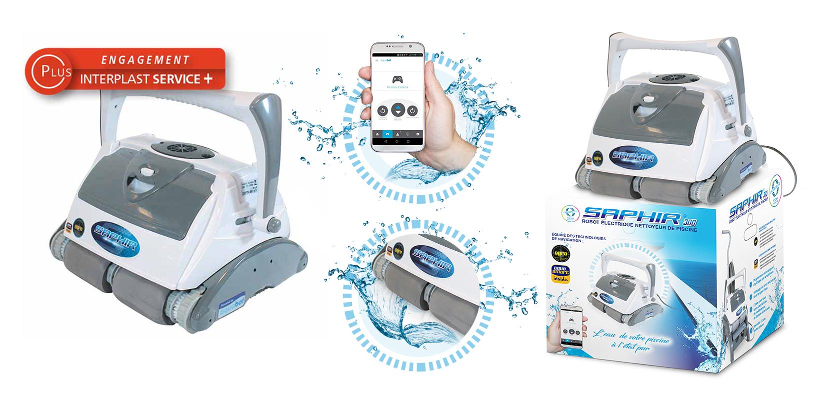 image robots électrique pilotable par smartphone saphir 300